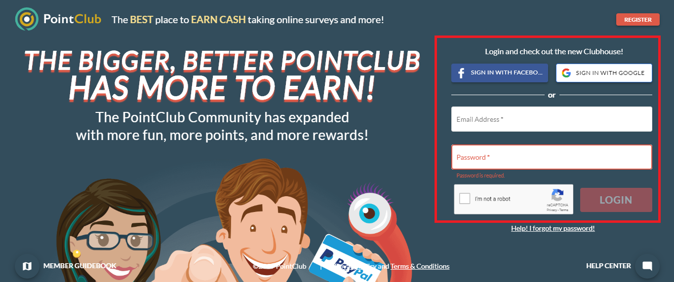 Pointclub sign up to get free paypal money fast and easy