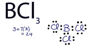 Lewis structure of BCl3