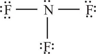 What is the Lewis structure of nf3?